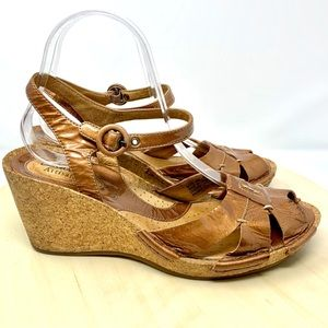 Clarks Alameda Cork wedge copper sandal 9 comfort